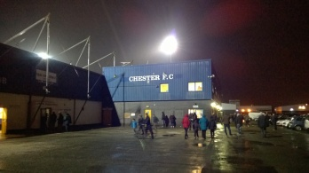 The Deva Stadium. Proud home to both Chester FC and the Maxiflow Stand.