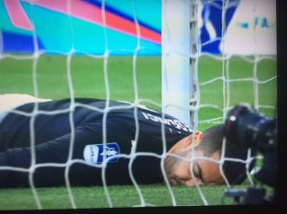 Federici realises the Spot the Ball competition was rigged all along.