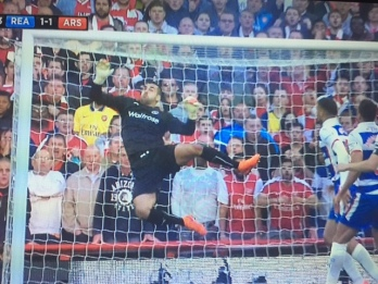 Adam Federici's Seaman-esque save doubles up as an excellent Spot the Ball competition.