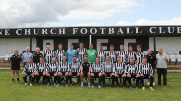 The Penistone squad pre-match. Dave Hampshire is third from the left on the back row. (image courtesy of Andy Nunn)