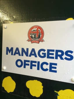 The manager's office...